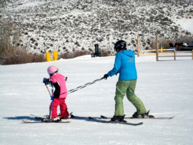 Assisted skiing